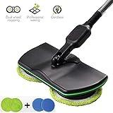 MYJZY Scopa elettrica Smart mop Cordless Spazzatrice di Carica Lavapavimenti Lucidatrice per la Pulizia di finestre a Pavimento Lisce,Black