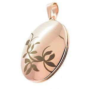 Medaillon Amulett aufklappbar für 2 Fotos Anhänger Edelstahl me23642 Gratis Gravur