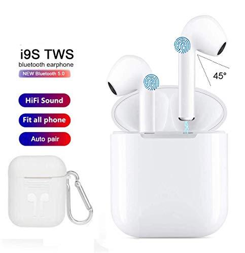 Sigmatech Auricolari Bluetooth Cuffie Intra-Auricolari Bluetooth con riduzione del Rumore Stereo, Coppia HiFi Auto con Power Bank per Microfono Compatibile con Smartphone MP3 MP4 Tablet