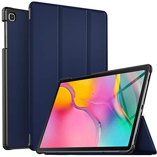 IVSO Hülle für Samsung Galaxy Tab A T515/T510 10.1 2019, Ultra Schlank Slim Schutzhülle Hochwertiges PU mit Standfunktion Ideal Geeignet für Samsung Galaxy Tab A 2019 T515/T510 10.1 Zoll, Cyan