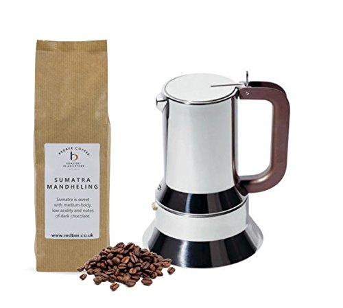Alessi Espressokocher Moka Pot von Richard Sapper für 3Tassen mit 250g Kaffee