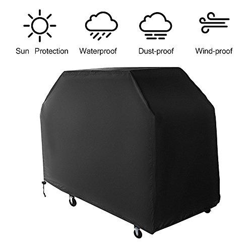 BBQ Grillabdeckung /Grill Cover /schutzhülle wetterschutzabdeckung/ wasserdicht outdoor Passend für die meisten mittelgroßen Grills 145x61x117cm schwarz von WEINAS