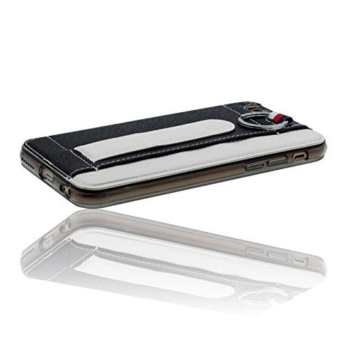 iPhone 6S Plus Flexible PU Cuir Anti choc Coque Case Etui Protection pour iPhone 6 Plus / 6S Plus (5.5 inch) Avec 1 stylet noir