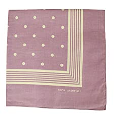 Tobeni 000803 Nicki cloth Bandana Scarf with Dots for Women and Men Scarf Made of 100% Cotton