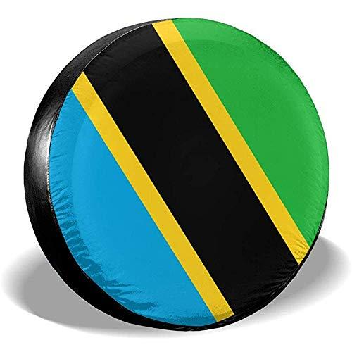 LAURE Tire Cover Copricerchi Classic Flag di Ricambio per Bandiera della TanzaniaAccessori per Auto