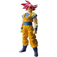 Bandai - Figurine DBZ - Son Goku Super Saiyan God Cheveux Rouge SH Figuarts 14cm - 4549660175643