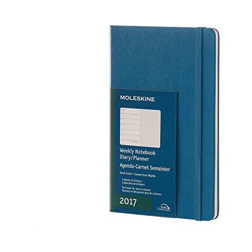 Moleskine Large Agenda Settimanale con Spazio per Note, 12 Mesi, Copertina Rigida, Blu