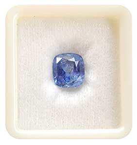 Bl Fedput 8.25 Ratti / 7.42 Carat Neelam Stone Cylone Mined Certified Natural Blue Sapphire Gemstone For Unisex