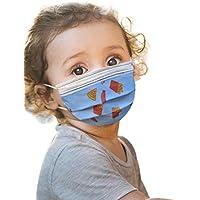 JIekyoi 50PC ��á���������� Desechable Niño Niña ���������������������� Facial Cubrir Boca Nariz Protege Protección Facial Dispositivo Transpirable Cómodo Salud Facial