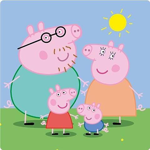 Peppa Pig Kids Cartoon Family De Haute Qualite Pare-Chocs Automobiles Autocollant 10 x 10 cm