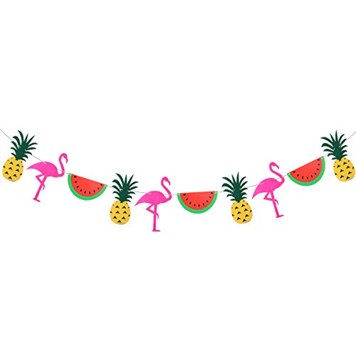 BESTOYARD Flamingo Bunting Banner Partei Banner tropische Pflanze Ananas Wassermelone Girlanden für Hawaii Party Favors tropischen Kakteen Thema Sommer Geburtstag Party Supplies