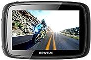 5 Zoll GPS Navigationsgerät Navi Drive-M Für Motorrad und PKW. wasserdichte. Radarwarner, Kostenlos Map Update