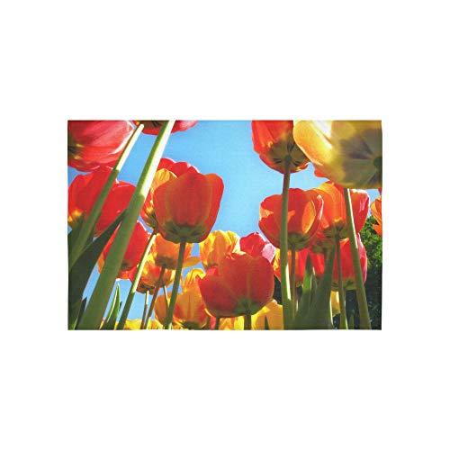 EIJODNL Tapisserie Tulpen Unter Sonnenschein In Den Niederlanden Tapisserien Wandbehang Blume Psychedelic Wandbehang Wandbehang Indischen Wohnheim Dekor Für Wohnzimmer Schlafzimmer 60 X 40 Zoll