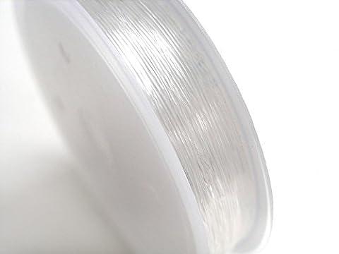 Elastisches Gummi Stretch Band transparent 0,4mm 200% dehnbar 10 m