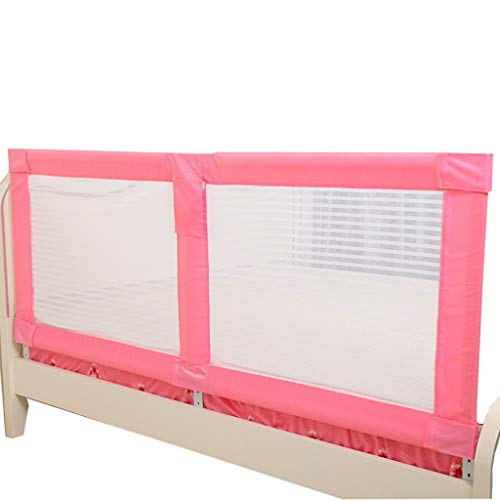 Barrera Cama Barandilla Cama Riel Extra Alto Largo para Cama para niños pequeños para la Cama tamaño Queen Twin XL Rosa barandilla Ajustable para niñas niños
