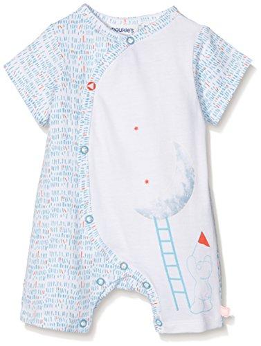 Noukies Combinaison Courte Jersey PEPS Pyjama, Blanc (Blanc), 6-9 Mois (Taille Fabricant: 6M) Bébé garçon