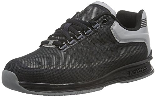 K-Swiss Rinzler, Baskets Basses Homme Gris (Stingray/Black)