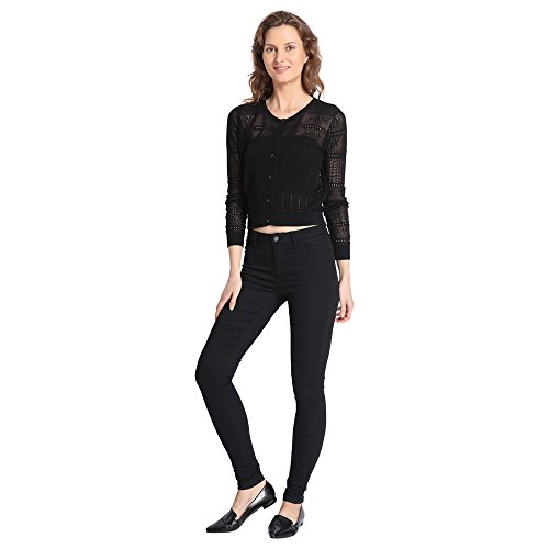 Vero Moda Women's Black Coloured Casual Cardigan