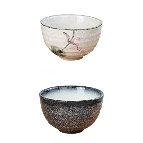 Fenteer Matcha Bowl Matchawan Tea Bowl in Ceramica Chawan Tea Accessori 2 Pezzi/Set