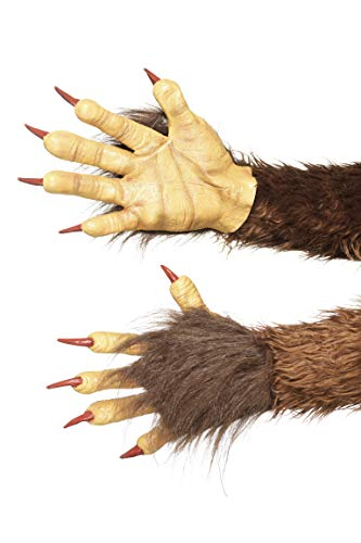 077 Beast/Krampus - Demon Handschuhe, Braun, ONE Size ()