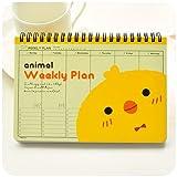 download ebook xiaoxinyuan plan hebdomadaire bobine agenda agenda livres carnet À spirales stationery office scolaire,yellow duck pdf epub