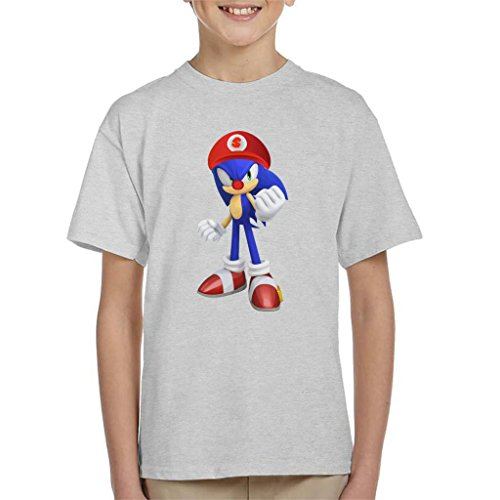 he Hedgehog Super Mario Hat Kid's T-Shirt ()