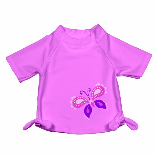 Iplay IP760150-216-45 T-Shirt mit UV-Schutz 50+ -Short Sleeve Tie Rashguard-M&M 2014; Light Pink Butterfly, XL/24mo