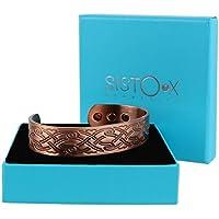 Chunky Kupfer magnetisch Armband/Armreif Wellen Design von sisto-x ® 6Magnete Gesundheit NdFeB preisvergleich bei billige-tabletten.eu