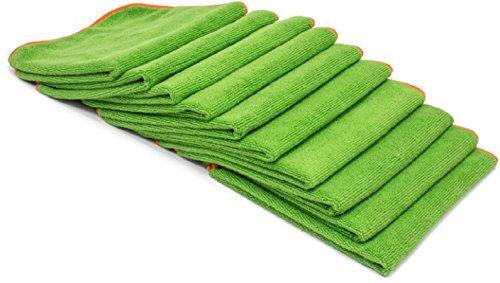ofaser Reinigungstuch Handtücher-Groß 40,6x 40,6cm Größe Embedded mit EPA Registriert Killing Power silverclear (TM) Behandlung Green 10 Pack ()