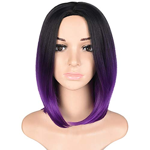 Chemical Fiber Wig Dyeing In The Wave Head Gradient Wig Wig Wig Women Short-Term Points Cosplay Kostüm-Party-Masquerade Ball Ball,Purple