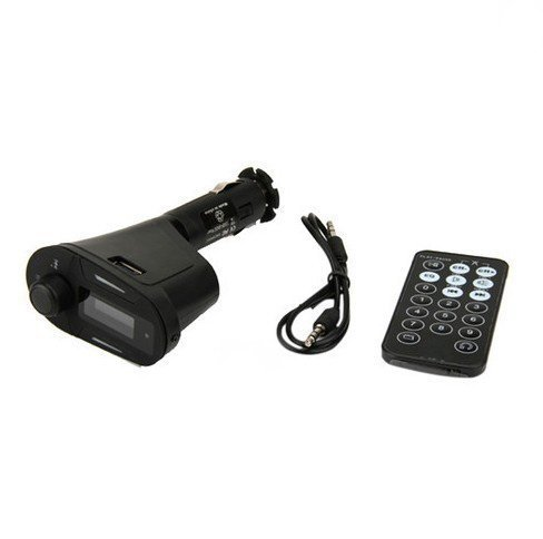 128 Mb Kit (Goliton® Auto Car Kit MP3 Player FM Transmitter USB SD MMC Remote - Blau Licht)