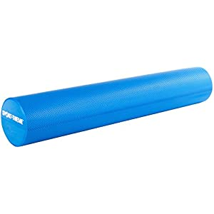 Sport-Thieme Pilatesrolle/Pilatesroller Premium | Hochwertiger Yogaroller aus extra weichem Spezial-Schaumstoff | 15 x 90 cm | rutschfest, Antibakteriell, Abwaschbar | Blau | Markenqualität