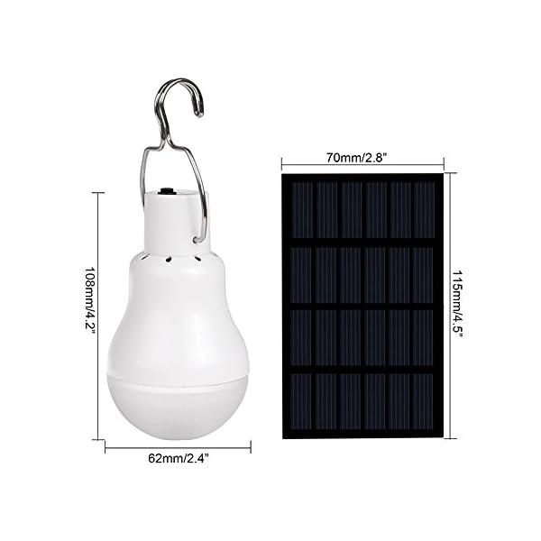 Luce Per Esterno Con Pannello Solare.Lampadina A Led A Energia Solare Portatile A Led Luce A Energia Solare Con Pannello Solare Per Illuminazione Esterni Per Campeggio Pesca