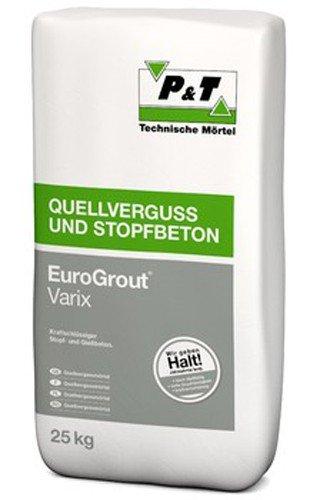 EuroGrout Varix Fliess-u.Stopfmoertel 0-4mm 25kg - kraftschlüssiger Stopf- und Gießbeton