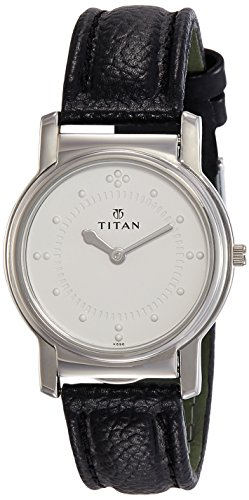 Titan Braille Analog Silver White Dial Men's Watch -NB1855SL01