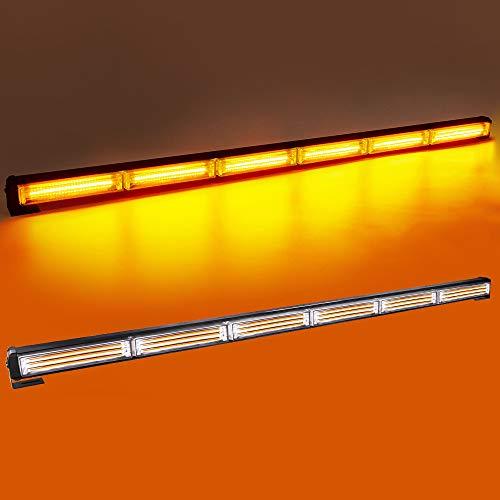 LED Zusatzscheinwerfer 35 Zoll 60W Bernstein LED Arbeitsscheinwerfer Oben Dach Mini Leiste Stroboskop Licht Led Nebellicht Scheinwerfer Bootsbeleuchtung, 14 Blinkende Stroboskop-Modi