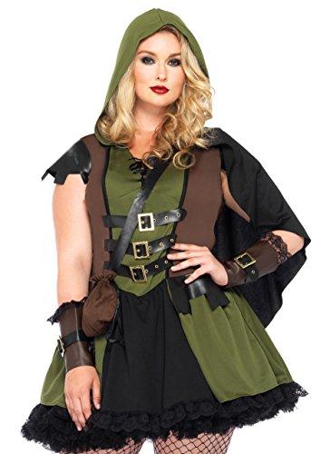 LEG AVENUE 85281X - Darling Robin Hood Kostüm Set, Plus Größe 1X-2X ( EUR - Plus Kostüm Halloween