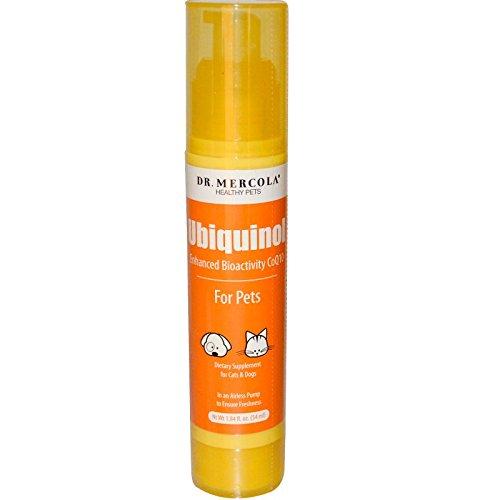 Coq10 Nahrung (Dr. Mercola Ubiquinol for Pets Liquid Pump - 1.96 Fl Oz (58 mL) - Enhanced Bioactivity CoQ10 - Dietary Supplement For Cats & Dogs - In An Airless Pump To Ensure Freshness by Dr. Mercola)