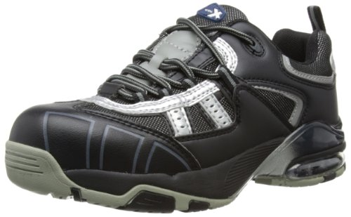 V12 Tornado, Safety Trainer, 08 UK 42 EU, Black/Silver