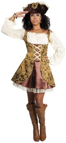 Der Kostüme Karibik Fluch Frauen (Erwachsenenkostüm Piratin)