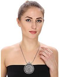 Aradhya Oxidized German Silver Necklace for Women -GCN647