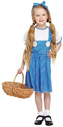 Fancy Me Mädchen Dorothy TV Film Welttag des buches-Tage-Woche Kleid Kostüm Schuhe 4-12 Jahre - Blau, 10-12 years
