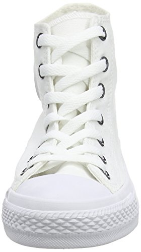 Converse Chuck Taylor All Star Seasonal, Sneakers Hautes Mixte Adulte Blanc (White)
