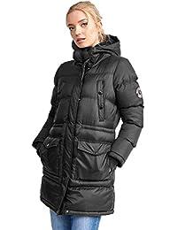 Ladies Jacket Brave Soul Womens Long Coat Sherpa Fleece Hooded Padded Winter New
