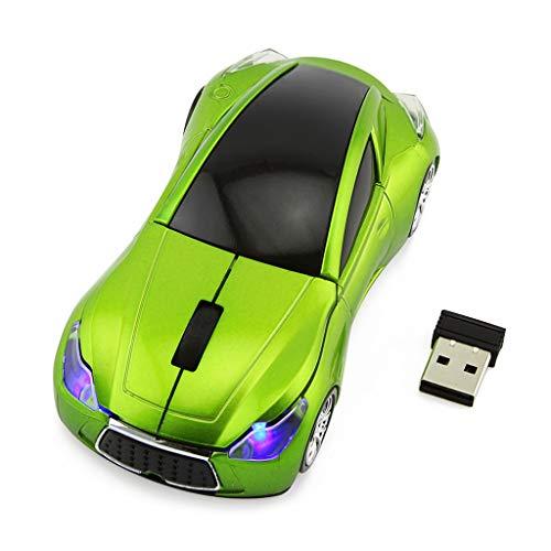 ZChun - Mouse da Auto Senza Fili, 2,4 GHz, con Ricevitore USB, per PC e Laptop V