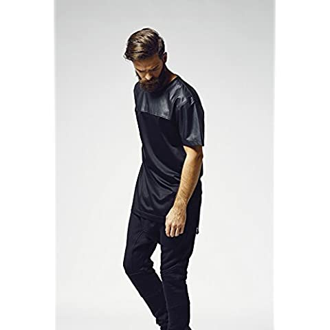 Urban Classics TB980 Football Mesh Long Jersey T-Shirt WHITE BLACK S