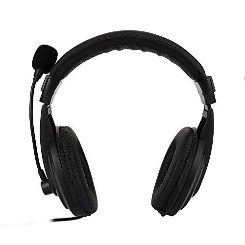 Gaming Headset Kopfhörer, Newwired Stereo Micphone Kopf montiert Gaming Kopfhörer mit Mikrofon für Sony PS3 PS4 PC (Schwarz) (Mikrofon-headset, Ps3)