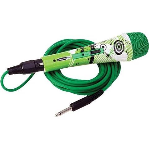 Jammin Pro Green Planet farbenfrohes, microfono dinamico in stile fantasievollen con cavo di 5M