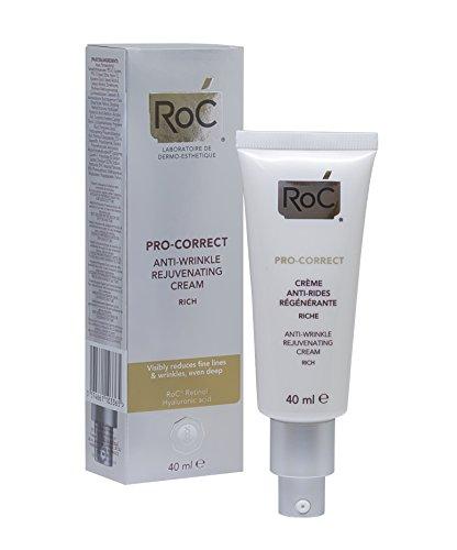 ROC Pro Correct – Crema Anti Arrugas, Rejuvenecedora, Textura Rica, 40 ml