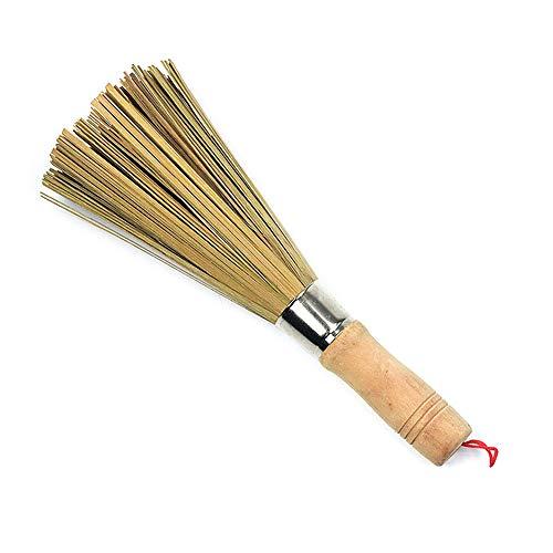NUOBUNG 2Pcs Pot Brush Natural Bamboo Brush Öl-resistente Holz-Handle-Dishwasher Pinsel Küche Wok Pinsel Pan Pot Reinigung Brush Küche - Handle Wok